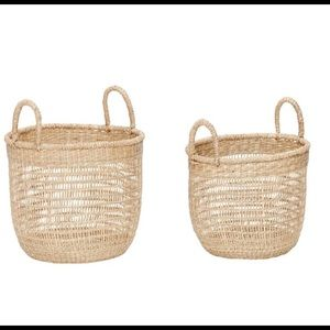 Nesting Seagrass basket set